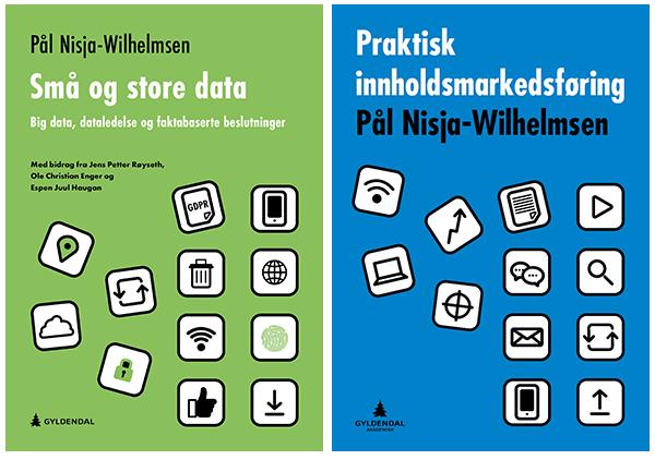 Bøkene Praktisk innholdsmarkedsføring og Små og store data, Gyldendal